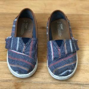TOMS denim striped shoes